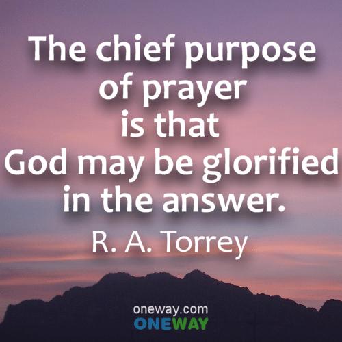 chief-purpose-of-prayer
