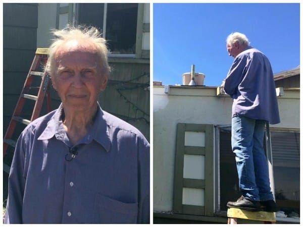 Man-posted-the-photo-of-his-retired-neigbour-repairing-the-roof-of-his-house-1