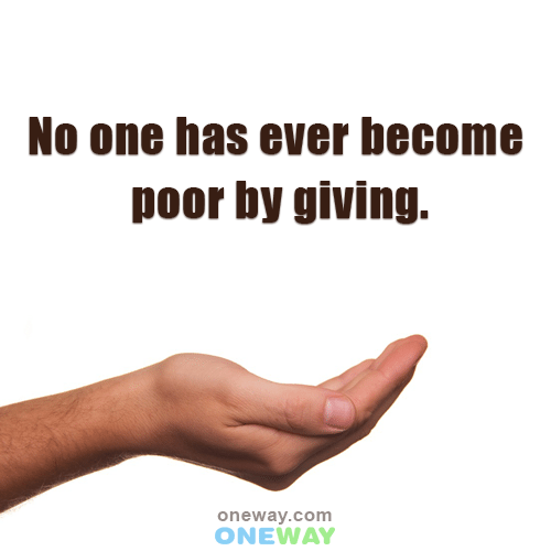 no-one-ever-become-poor-giving