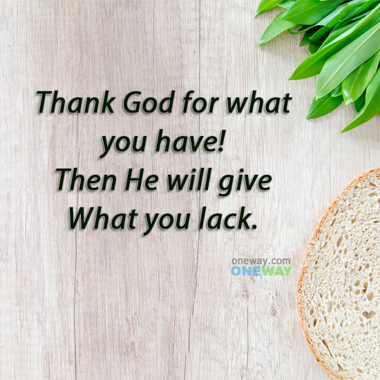 thank-god-will-give-lack